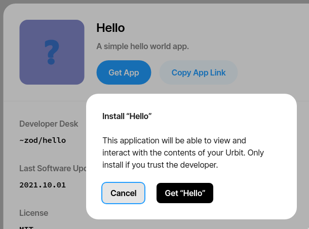 Remote app install