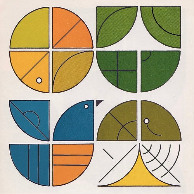 """A set of four sigils arranged & coloured to appear as various natural forms, above the ~sorwet sigil & the text """"help the environment and help yourself"""""""